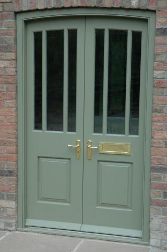 Painted exterior double door
